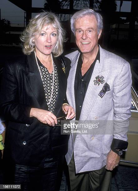 Actor Robert Culp and Candace Faulkner attend 'Art Auction Benefit the Homeless' on July 20, 1989 at Loews Santa Monica Beach Hotel in Santa Monica,...