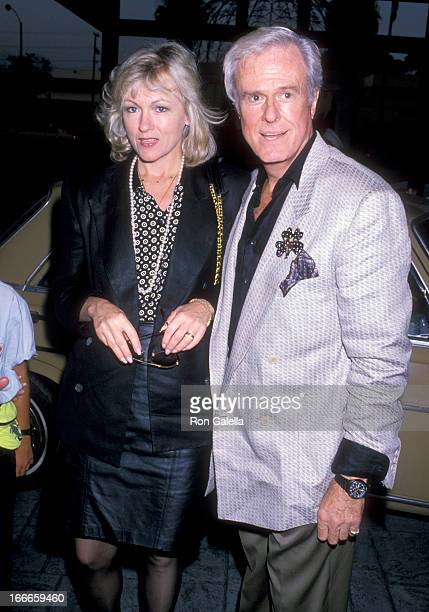 Actor Robert Culp and Candace Faulkner attend Art Auction Benefit the Homeless on July 20 1989 at Loews Santa Monica Beach Hotel in Santa Monica...
