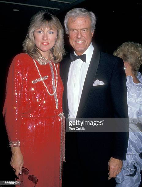 Actor Robert Culp and Candace Faulkner attend the 32nd Annual Thalians Ball Honoring Fred MacMurray on October 17 1987 at Century Plaza Hotel in Los...