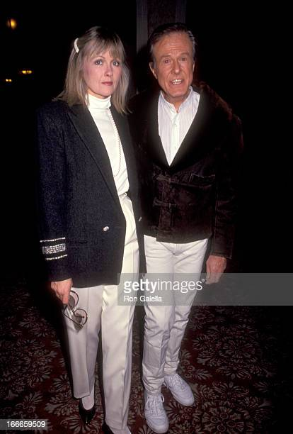 Actor Robert Culp and Candace Faulkner attend the Celebrity Sports Invitational on January 10 1991 at Fairmont Banff Springs Resort in Banff Alberta...