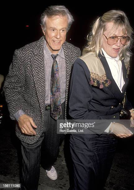 Actor Robert Culp and Candace Faulkner attend 'The Cocktail Hour' Hollywood Opening Night Performance on April 19, 1990 at James A. Doolittle Theatre...