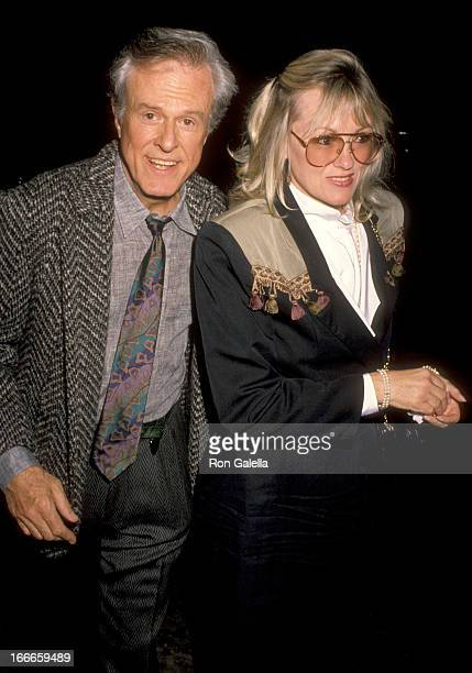 Actor Robert Culp and Candace Faulkner attend The Cocktail Hour Hollywood Opening Night Performance on April 19 1990 at James A Doolittle Theatre in...