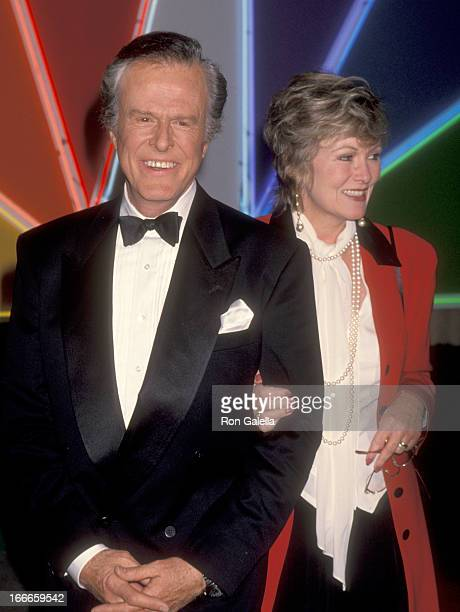 Actor Robert Culp and Candace Faulkner attend the Golden Globe's 50th Anniversary Celebration on November 20 1993 at NBC Studios in Burbank California