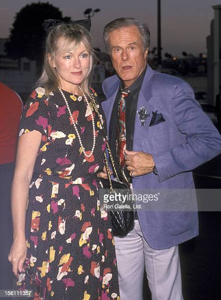 Actor Robert Culp and Candace Faulkner attend the 'Rumors' Hollywood Opening Night Performance on July 12, 1990 at James A. Doolittle Theatre in...