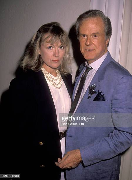 Actor Robert Culp and Candace Faulkner attend the Second Annual Kodak Century Award Honoring Milos Forman on October 3, 1990 at Beverly Hills Hotel...
