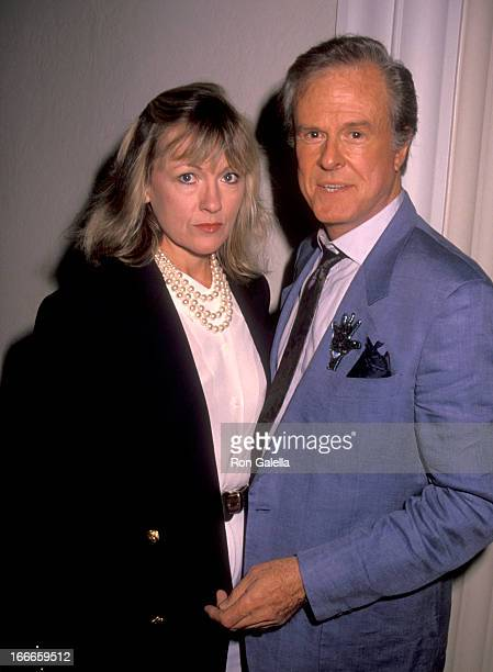 Actor Robert Culp and Candace Faulkner attend the Second Annual Kodak Century Award Honoring Milos Forman on October 3 1990 at Beverly Hills Hotel in...