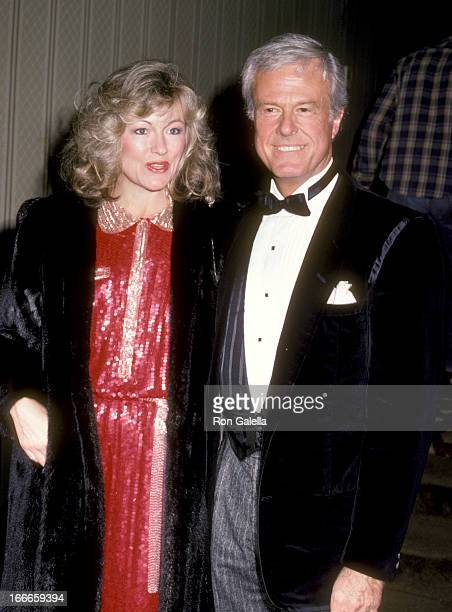 Actor Robert Culp and Candace Faulkner attend the Simon Weisenthal Dinner on November 10 1985 at Century Plaza Hotel in Los Angeles California