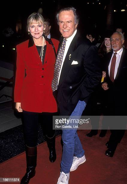 Actor Robert Culp and Candace Faulkner attend the 'Strictly Ballroom' Hollywood Premiere on February 10, 1993 at Galaxy Theatre in Hollywood,...