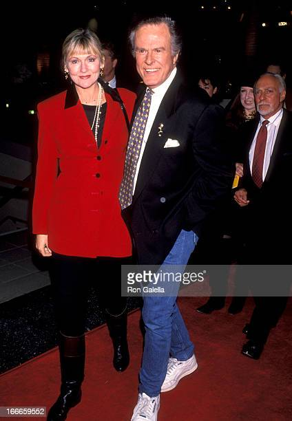 "Actor Robert Culp and Candace Faulkner attend the ""Strictly Ballroom"" Hollywood Premiere on February 10, 1993 at Galaxy Theatre in Hollywood,..."