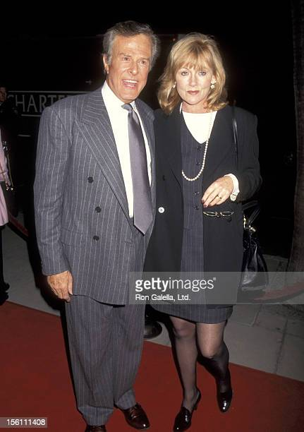 Actor Robert Culp and Candace Faulkner attend the 'Three Wishes' Beverly Hills Premiere on October 24, 1995 at Samuel Goldwyn Theatre in Beverly...