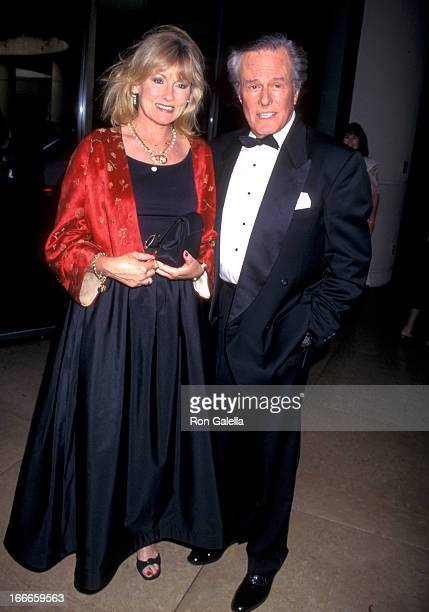 Actor Robert Culp and Candadce Faulkner attend the 1997 American Comedy Honors Gala on August 23, 1997 at the Beverly Hilton Hotel in Beverly Hills,...