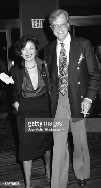 Actor Robert Culp and songwriter Carole Bayer Sager attend the opening night dinner reception for 'Evita' at Chasen's Restaurant on January 13 1980...