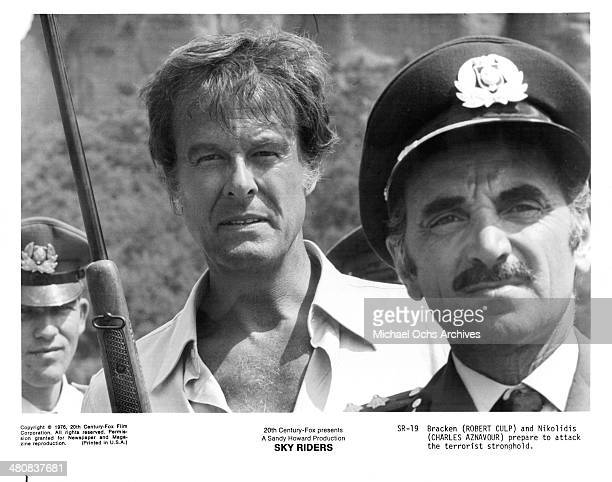 Actor Robert Culp in a scene from the movie Sky Riders circa 1976