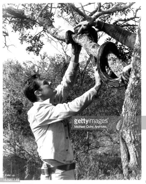 Actor Robert Culp on the set of the movie Rhino in 1964