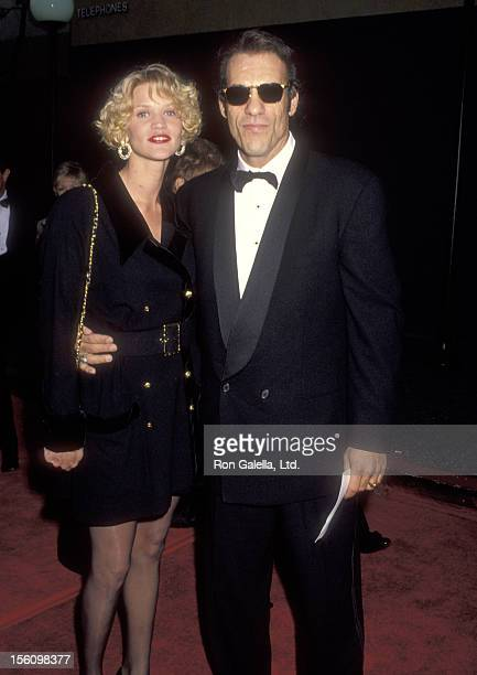 Actor Robert Davi and wife Christine Bolster attend the 18th Annual People's Choice Awards on March 17 1992 at Universal Studios in Universal City...
