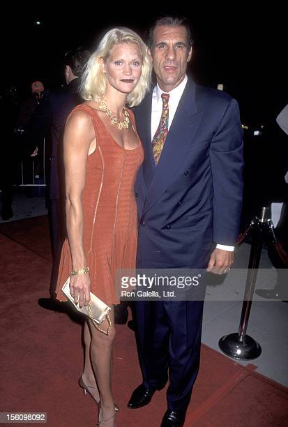 Actor Robert Davi and wife Christine Bolster attend the 'Showgirls' Beverly Hills Premiere on September 21 1995 at Academy Theatre in Beverly Hills...