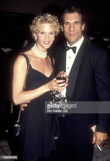 Actor Robert Davi and wife Christine Bolster attend The Simon Wiesenthal Center's National Leadership Award Gala Honoring Arnold Schwarzenegger on...