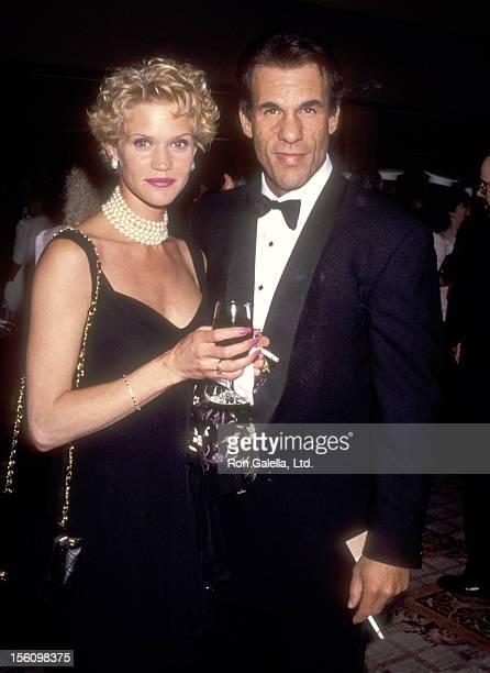 Actor Robert Davi and wife Christine Bolster attend The Simon Wiesenthal Center's National Leadership Award Gala Honoring Arnold Schwarzenegger on...