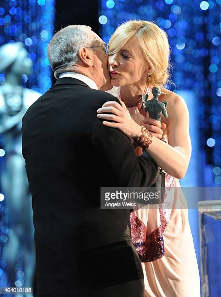 Actor Robert De Niro and actress Cate Blanchett attend the 20th Annual Screen Actors Guild Awards at The Shrine Auditorium on January 18, 2014 in Los...