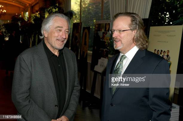 Actor Robert De Niro and AFI President & CEO Bob Gazzale attend the 20th Annual AFI Awards at Four Seasons Hotel Los Angeles at Beverly Hills on...