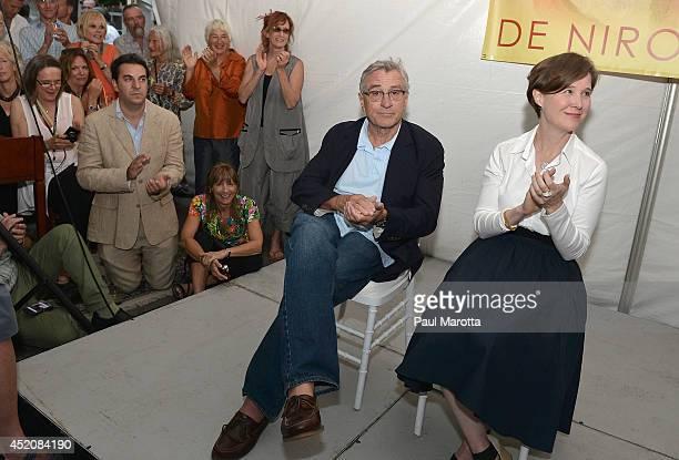 Actor Robert De Niro and author Ann Patchett attend the Fine Arts Work Center Summer Awards Celebration honoring Ann Patchett Robert De Niro Jr and...