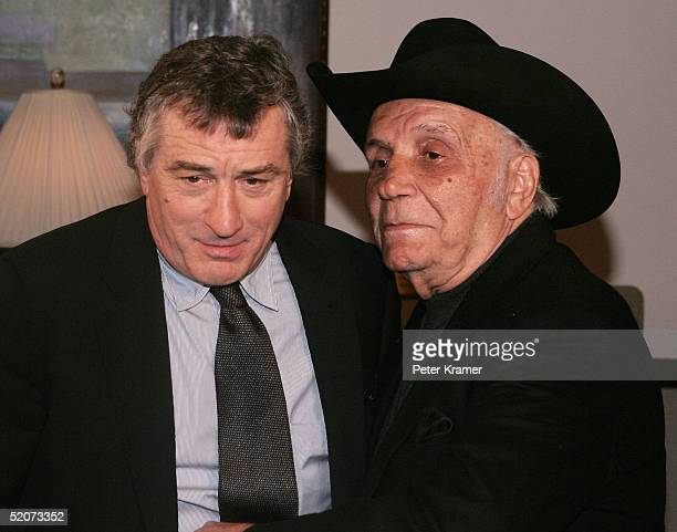 Actor Robert De Niro and Boxer Jake LaMotta attend a special screening of 'Raging Bull' to celebrate it's 25th anniversary and DVD release on January...