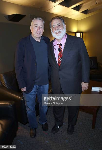 Actor Robert De Niro and director Francis Ford Coppola attend Tribeca Talks Storytellers: Francis Ford Coppola With Jay McInerney at SVA Theatre 1 on...