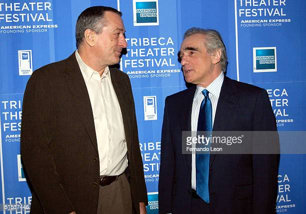 Actor Robert De Niro and Director Martin Scorsese arrive at the Michael Schimmel Center for the Arts at Pace University for the 1st Annual Tribeca...
