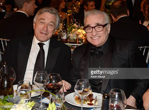 Actor Robert De Niro and director Martin Scorsese attend AFI's 41st Life Achievement Award Tribute to Mel Brooks at Dolby Theatre on June 6 2013 in...