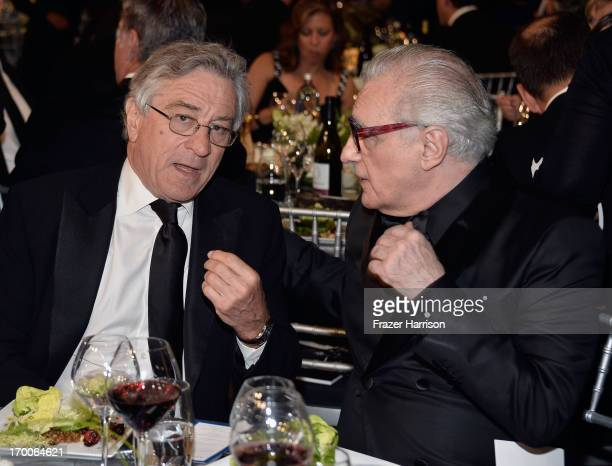 Actor Robert De Niro and Director Martin Scorsese attend the 41st AFI Life Achievement Award Honoring Mel Brooks at Dolby Theatre on June 6 2013 in...
