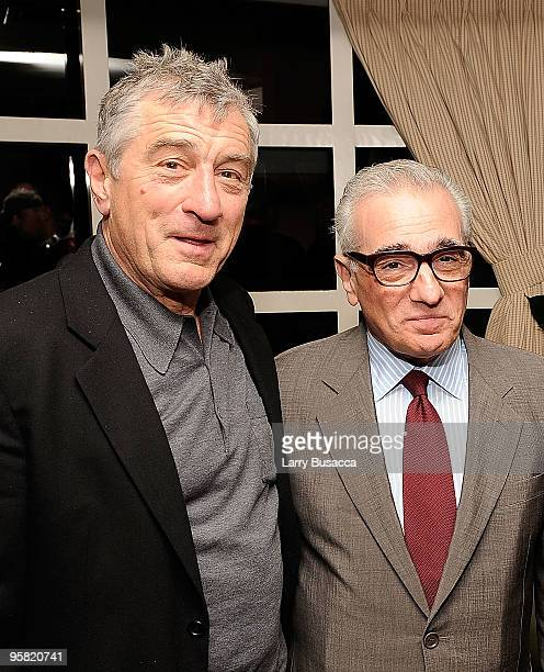Actor Robert De Niro and director Martin Scorsese attend the Lionsgate Golden Globe Party at Polo Lounge at The Beverly Hills Hotel on January 16...