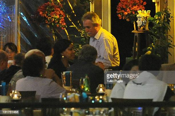 *EXCLUSIVE * Actor Robert De Niro and Grace Hightower are seen at 'da Nino' restaurant on June 11 2010 in Letojanni near Taormina Italy