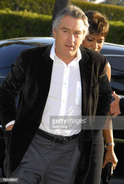 Actor Robert De Niro and his wife at the 'Stardust' Los Angeles Premiere at the Paramount Studio Theatre on July 29 2007 in Los Angeles California