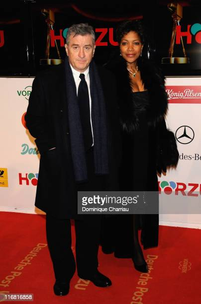 Actor Robert De Niro and his wife Grace Hightower arrive for the Golden Camera Awards 2008 at at the Ullsteinhalle on February 6 2008 in Berlin...