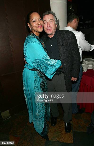 Actor Robert De Niro and his wife Grace Hightower attend the Tribeca Film Festival Founder's Party at Churrascaria Plataforma Tribeca during the...