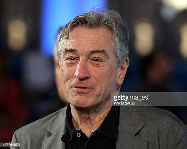 US actor Robert De Niro and the founder of New York's Tribeca Film Festival arrives at the Doha Tribeca Film Festival in the Qatari capital on...