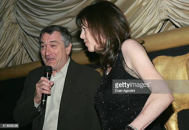 Actor Robert De Niro and Tribeca Film Festival CoFounder Jane Rosenthal introduce the film at the screening of 'Meet The Fockers' at Sony Lincoln...