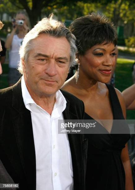 Actor Robert De Niro and wife Grace De Niro arrive at the ' Stardust ' Los Angeles premiere at Paramount Studio Theatre on July 29 2007 in Los...