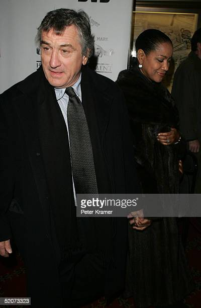 Actor Robert De Niro and wife Grace Hightower attend a special screening of 'Raging Bull' to celebrate it's 25th anniversary and DVD release on...