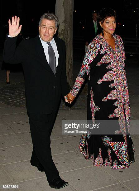 Actor Robert De Niro and wife Grace Hightower attend the Vanity Fair magazine party to celebrate the 2008 Tribeca Film Festival on April 22 2008 in...