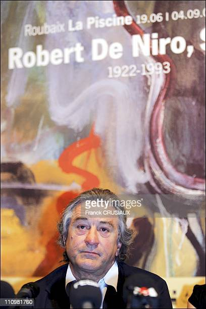 US actor Robert De Niro at a press conference on the occasion of the opening of an exhibition of his father Robert De Niro Sr at La Piscine in...