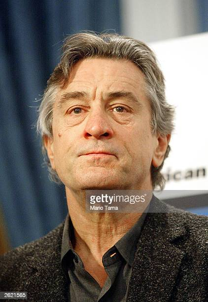 Actor Robert De Niro attends a news conference March 21 2002 in New York City According to a spokesman De Niro was diagnosed with prostate cancer but...