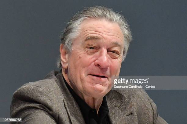 Actor Robert De Niro attends a press conference during the 17th Marrakech International Film Festival on December 2 2018 in Marrakech Morocco