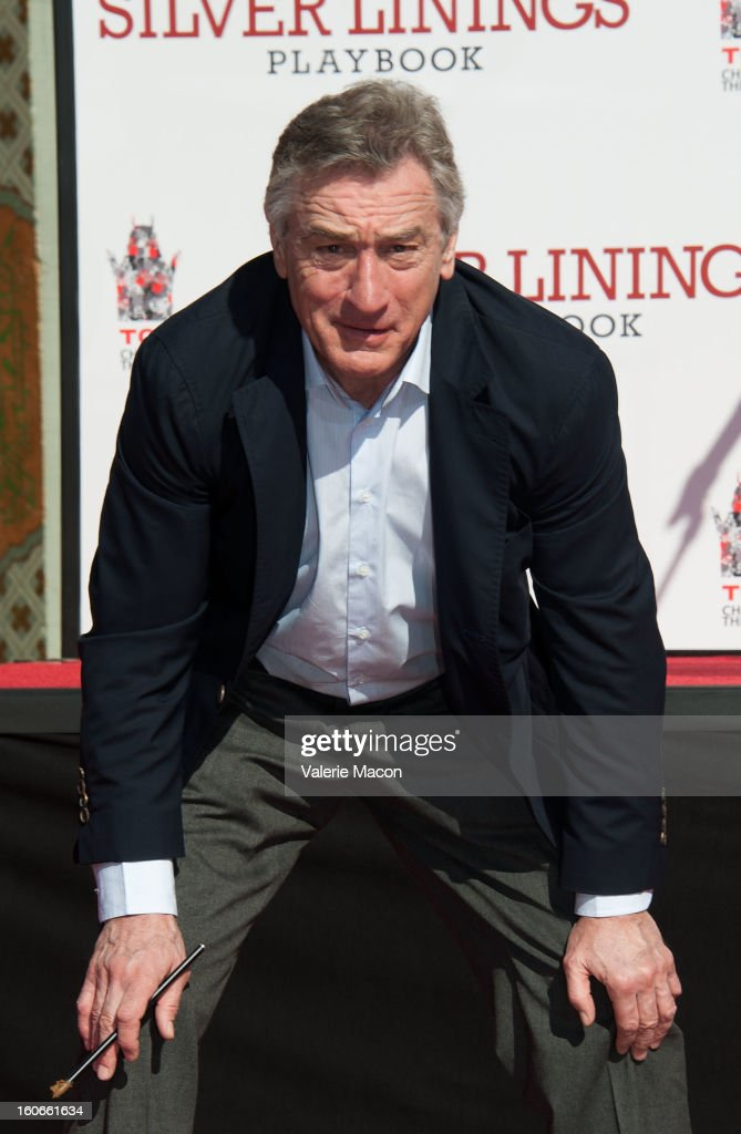 Actor Robert De Niro attends his Hand and Footprint Ceremony at TCL Chinese Theatre on February 4, 2013 in Hollywood, California.
