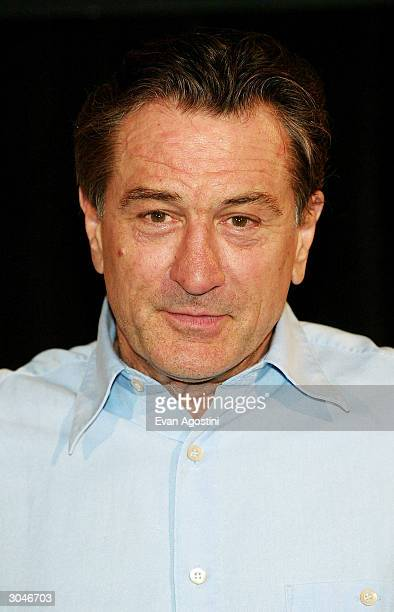 Actor Robert De Niro attends the 2004 Tribeca Film Festival kickoff press conference at Silver Cup Studios March 5 2004 in New York City