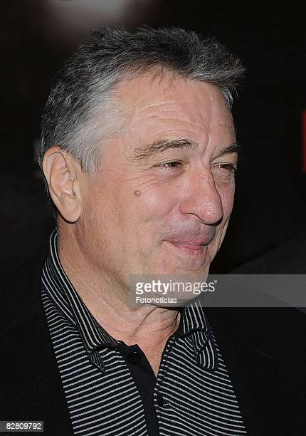 Actor Robert De Niro attends the European Premiere of 'Righteous Kill' at Kinepolis Cinema on September 13 2008 in Madrid Spain