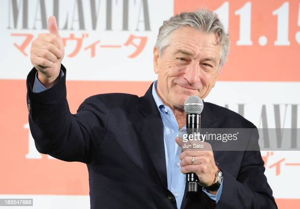 Actor Robert De Niro attends 'The Family' Japan premiere at The 26th Tokyo International Film Festival at Roppongi Hills Arena on October 22 2013 in...