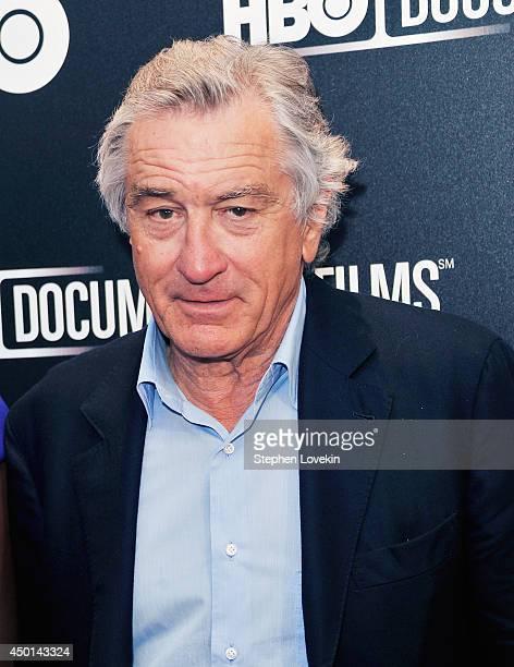 Actor Robert De Niro attends The HBO Documentary Screening Of 'Remembering The Artist Robert De Niro Sr' at Museum of Modern Art on June 5 2014 in...