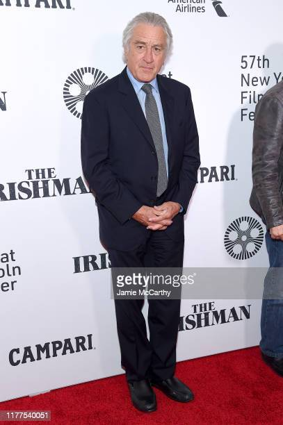 Actor Robert De Niro attends The Irishman screening during the 57th New York Film Festival at Alice Tully Hall Lincoln Center on September 27 2019 in...