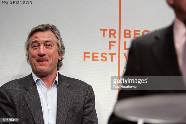 Actor Robert De Niro attends the opening press conference to kick off the 4th Annual Tribeca Film Festival April 21 2005 in New York City